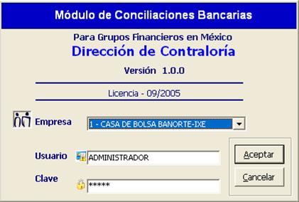 Conciliaciones Bancarias